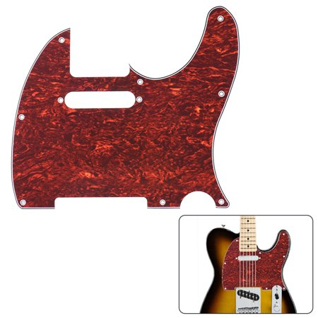 Pickguard Pick Guard 4Ply for Telecaster Standard Modern Style Electric Guitar Tortoise Shell Red ()