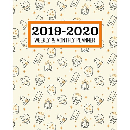 Halloween Events In Times Square 2019 (2019-2020 Weekly & Monthly Planner : Academic Planner for Students & Teachers - August 2019 through July 2020 - Schoolwork Calendar with Daily notes and Weekly Checklists - Halloween, Skulls,)