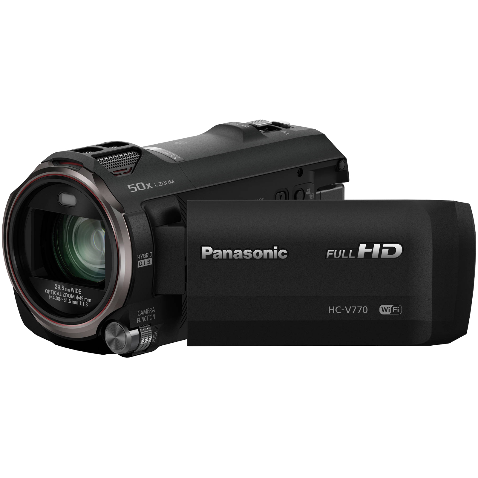Panasonic HC-V770 Wireless Smartphone Twin Recording Wi-Fi HD Video Camera Camcorder Twin Features: Picture-in Picture Full-motion Recording