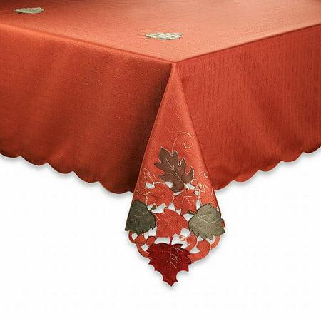 Fairfield Autumn Spice Fabric Tablecloth Leave Cut Out
