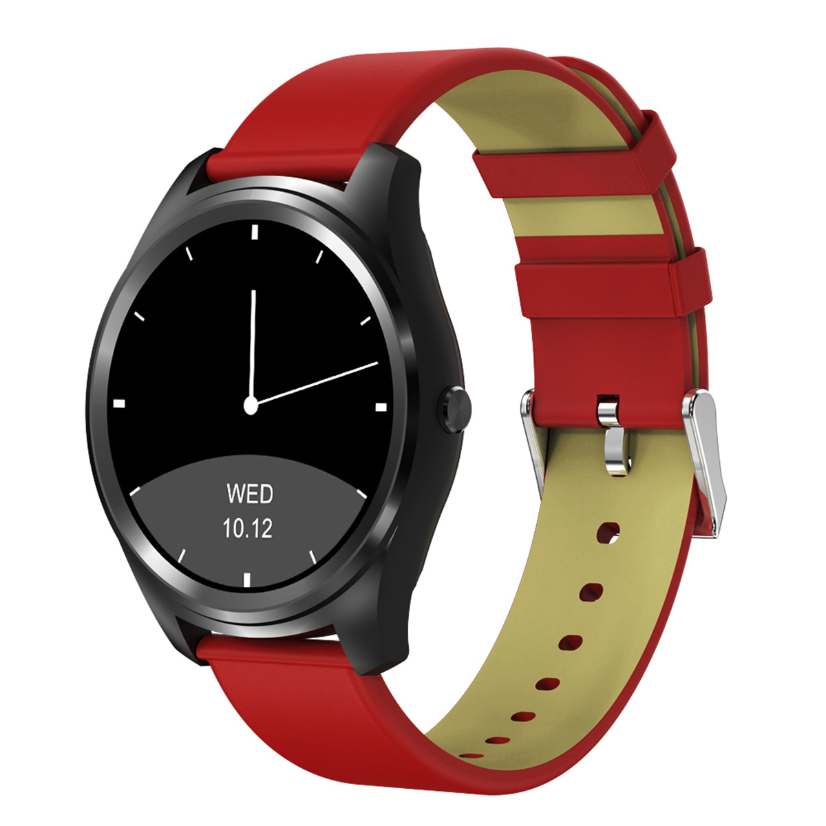 Diggro DI03 Bluetooth Siri Smart watch MTK2502C 128MB+64MB 1.15cm Ultra-thin IP67 Heart Rate Monitor Pedometer Sedentary Remind Sleep Monitor Notifications Pushing for Android & IOS (Silver)