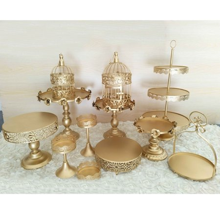 Moaere 12Pcs Vintage Crystal Cake Holder Cupcake Stand Dessert Display Wedding Party (12 Chop Plate Platter)