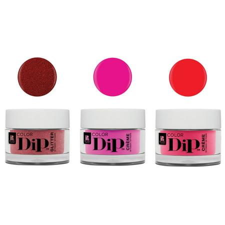 Red Carpet Manicure Professional Color Dip Nail Dip Powder 0.3 Oz, 3 Piece Set