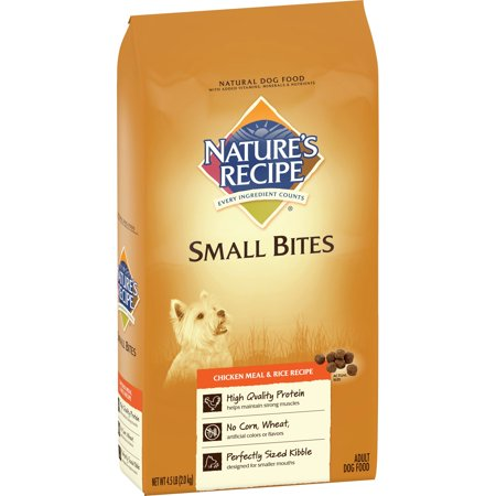 Nature's Recipe Small Bites Chicken meal & Rice Recipe Dry Dog Food, 4.5-Pound