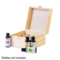 Wooden Essential Oil Box - Holds 16 30ml Essential Oil Bottles - Great For Storing Now & Other 1 Ounce Bottles - Perfect Essential Oils Case for Home and Travel