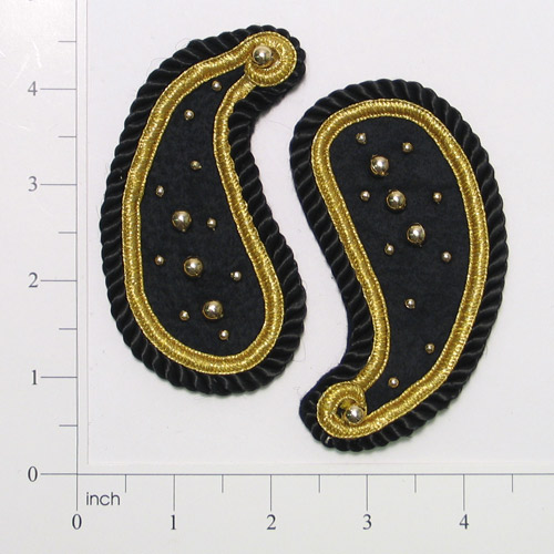 Expo Int'l Paisley with beads and cording Pack of 2