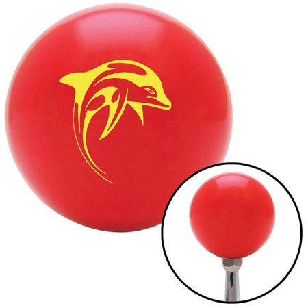 Yellow Dolphin Red Shift Knob with M16 x 1.5 Insert Shifter Auto Manual Custom Brody - image 1 de 1