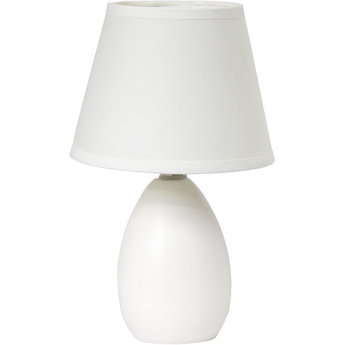 Simple Designs Mini Egg Oval Ceramic Table Lamp by All the Rages Inc