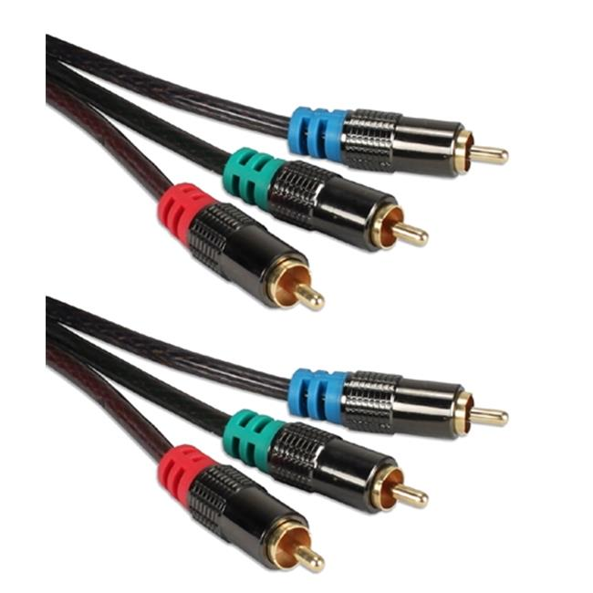 QVS RCA3V-12 12 ft. HDTV Triple-RCA Premium Component Video Combo Cable