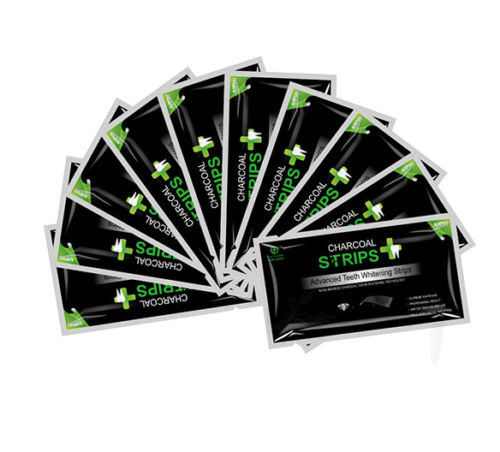 56 Strips Activated Charcoal Whitening Strips Advanced Teeth Whitening Strips
