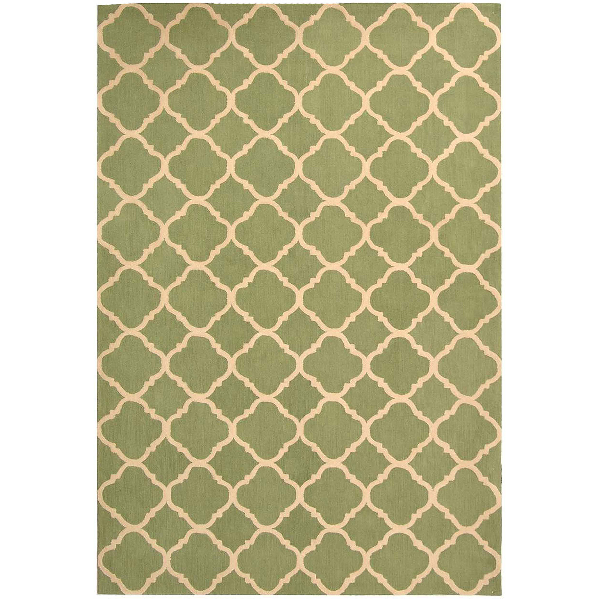 Safavieh Newport Joselyn Hand-Hooked Cotton Area Rug, Green/Ivory