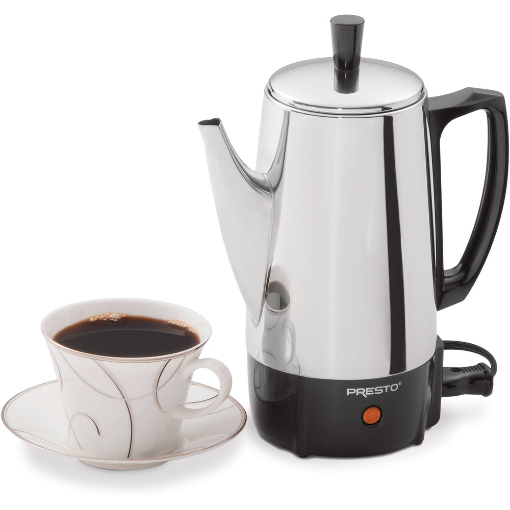 Presto 6-Cup Electric Coffee Percolator in Stainless Steel