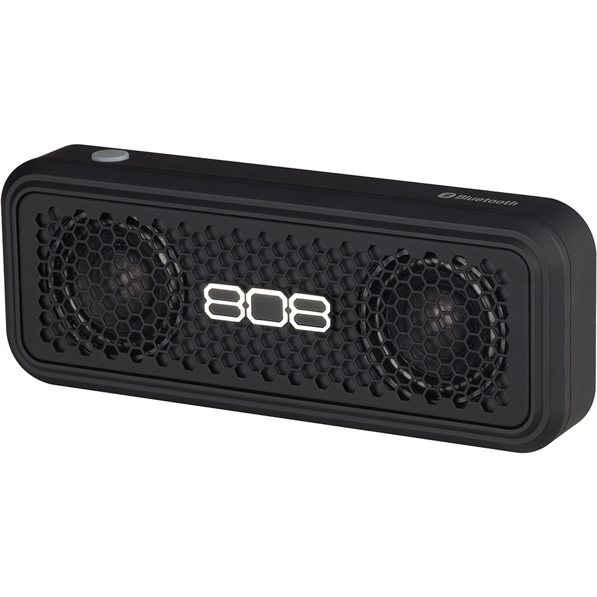 808 HEX XS Portable Bluetooth Speaker, Black