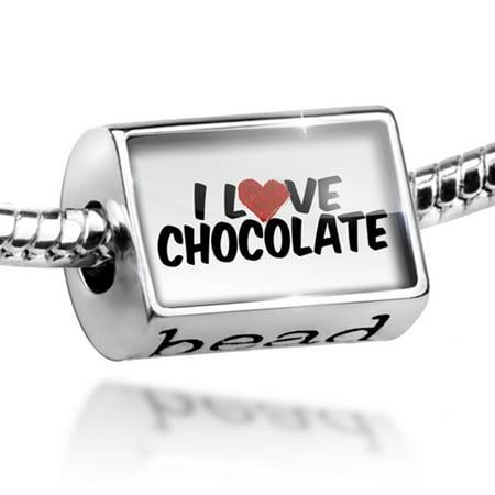 Bead I Love Chocolate Charm Fits All European Bracelets - Love Beads