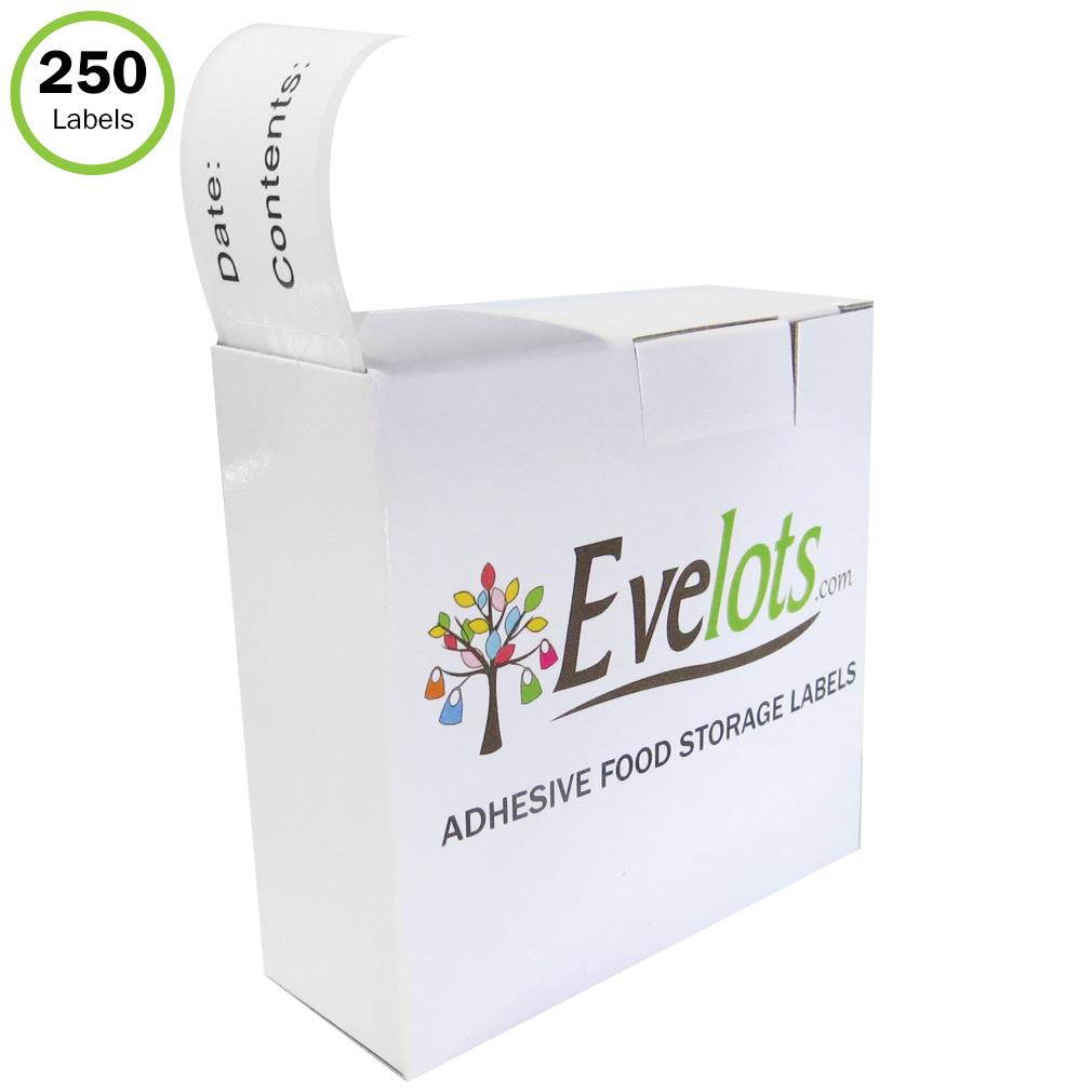 Evelots Food Labels-Stickers-Freezer-Refrigerator- Printed