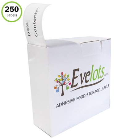 Evelots Food Labels-Stickers-Freezer-Refrigerator- Printed-Dispenser-250
