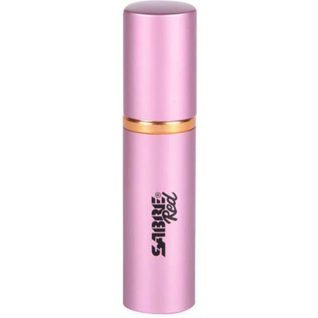 SABRE Red Lipstick Pepper Spray, Police Strength, Discreet, Pink, 10 Bursts & 10' (3m) Range