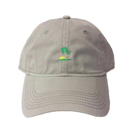 125e23da0c7 Go All Out Adult Palm Tree Embroidered Deluxe Dad Hat - Walmart.com