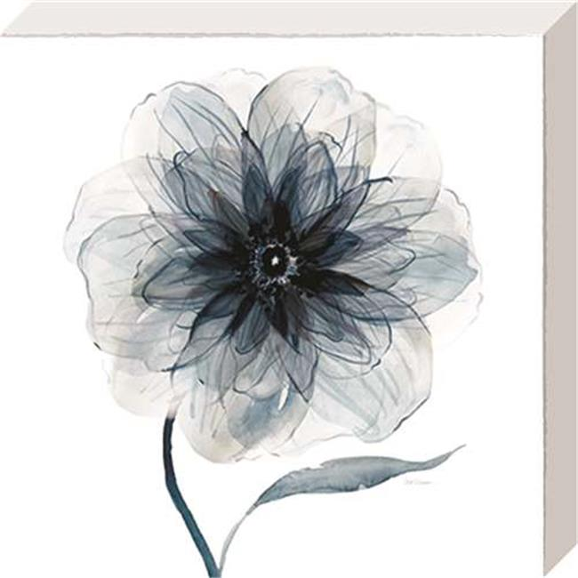 North American Art NC1106 16 x 16 in. Indigo Bloom III Canvas Gallery Wrapped Art Print