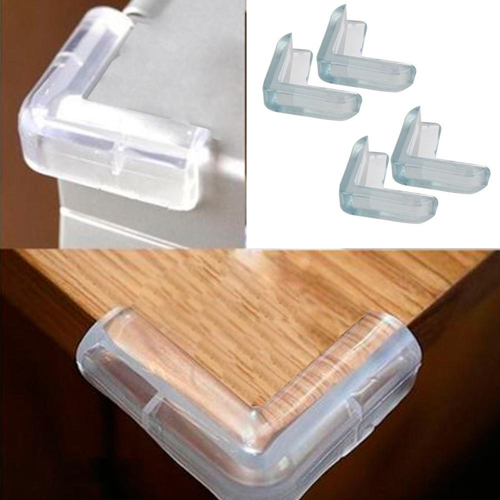 4 Pc Corner Protector Cushion L Shape Child Baby Safety Table Edge Desk  Guard !