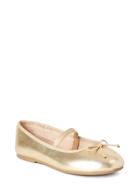 Toddler//Little Kid//Big Kid Dance Class Gold Ballet Flat