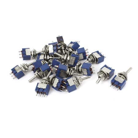 AC125V 6a SPDT 3 Terminals Self Locking On-Off-On Rocker Toggle Switch 20 Pcs - image 1 of 1