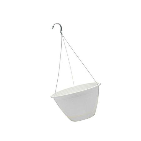 "Southern Patio 10"" Promotional Hanging Basket, White"