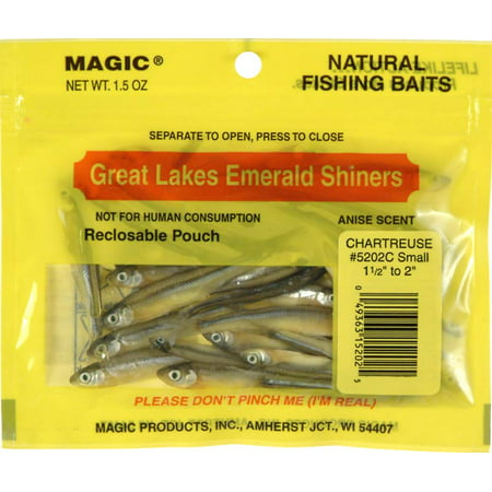 Chartreuse Shiner - Magic Emerald Shiner Minnows Chartreuse