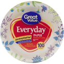 "100-Count Great Value 8 5/8"" Heavy Duty Paper Plates"