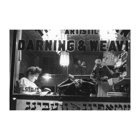 """Jewish Weaving Shop On Broom Street"" Print (Unframed Paper Poster Giclee 20x29)"