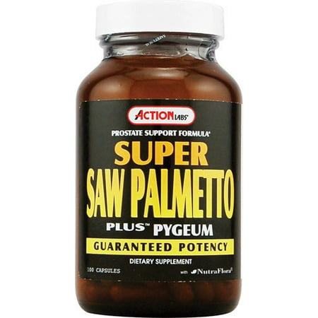 Action Labs Prostate Support Formula Super Saw Palmetto Plus Pygeum Capsules, 100 -