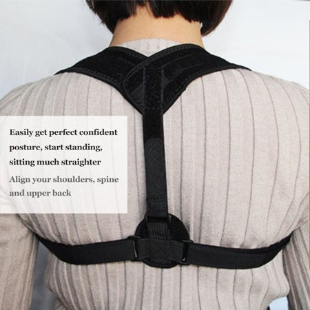 Upper Back Posture Corrector Clavicle Support Belt Back Slouching Corrective Posture Correction Spine Braces Supports Health Care - image 3 of 7