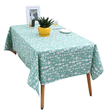 Cotton Linen Fabric Rectangle Tablecloth Kitchenware Pattern Home Dining Room Table Cloth Cover