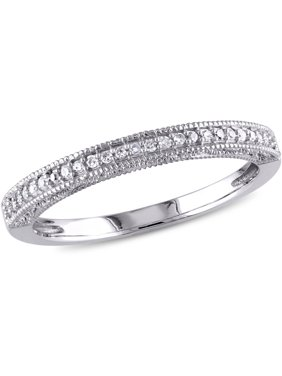 1/10 Carat T.W. Diamond 10kt White Gold Wedding Band