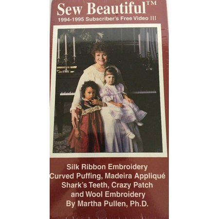 Sew Beautiful-Silk Ribbon Embroidery/Curved Puffing VHS-RARE VINTAGE-SHIP N 24HR