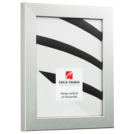 Craig Frames Bauhaus 125, Modern Brushed Silver Picture Frame, 14 x ...