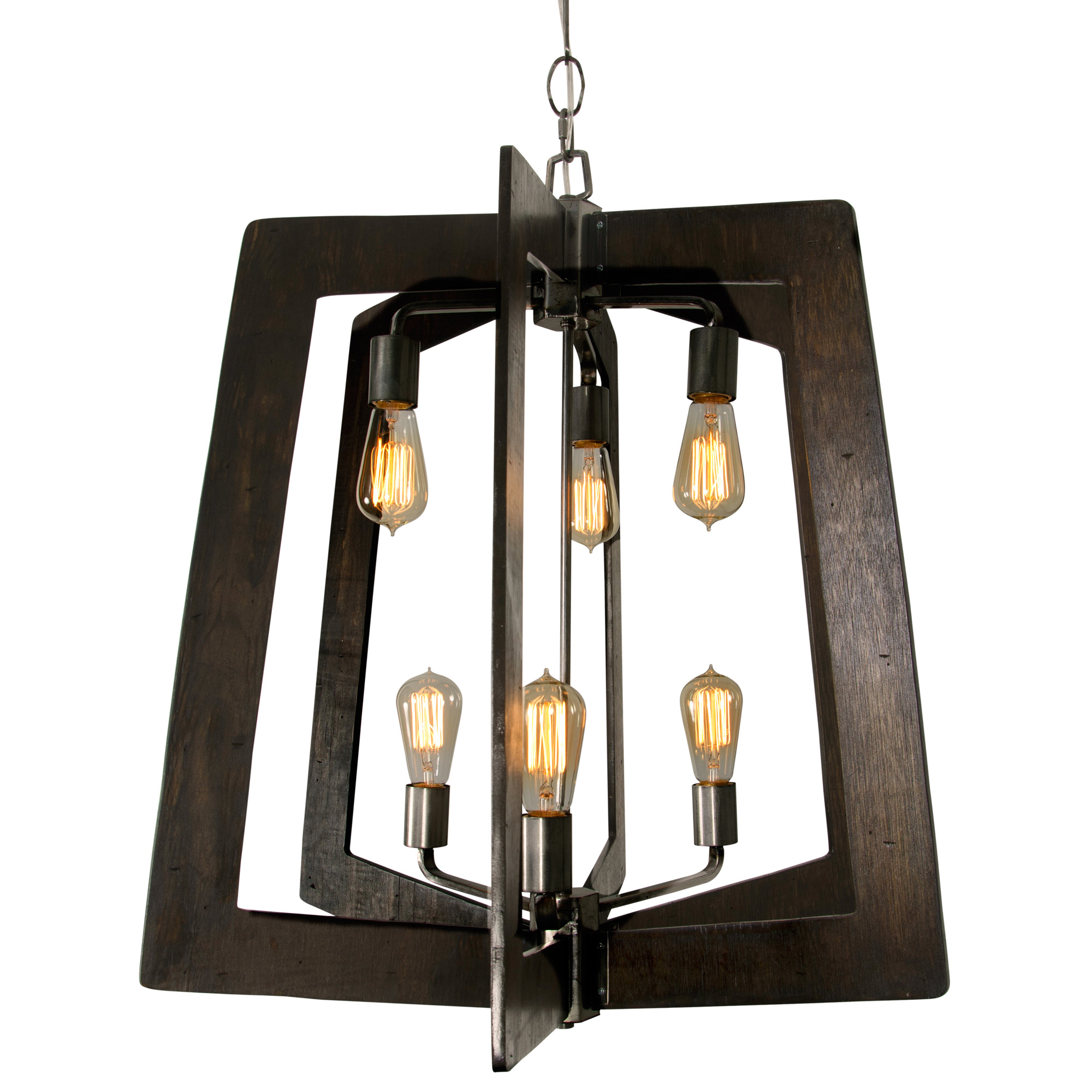 Varaluz - Lofty - 6 Light Foyer Chandelier - Steel Finish