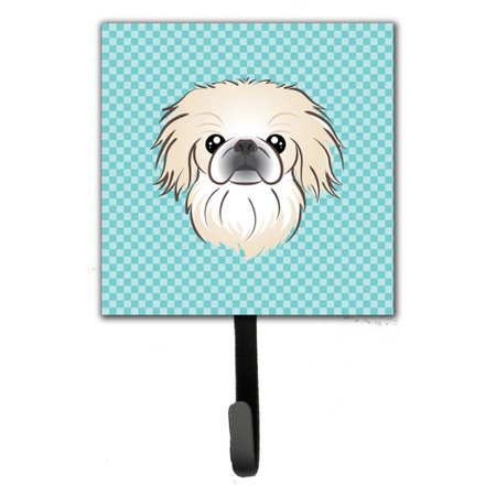 Caroline's Treasures Checkerboard Pekingese Leash Holder and Wall Hook