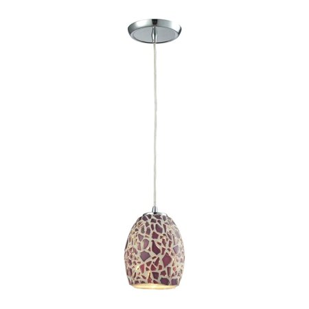 Elk Lighting Glass Mosaic Pendant in Polished Chrome