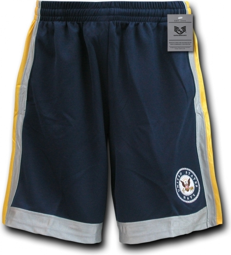 RapDom Navy Logo Mens Basketball Shorts [Navy Blue - M]