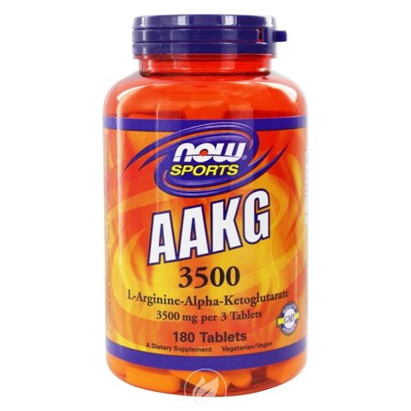 Now Foods AAKG 3500, 180 tablets, Pack of 2 (Now Foods Aakg)