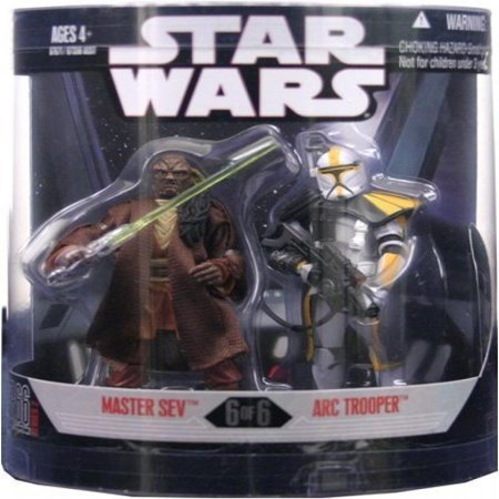 Star Wars Saga 2008 Exclusive Order 66 Action Figure 2-Pack Master Sev & Arc Trooper ()
