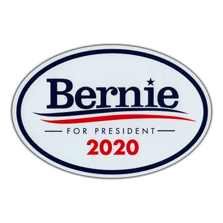 Obama For President Bumper Stickers - Oval Magnet - Bernie Sanders For President 2020 - Magnetic Bumper Sticker - 6