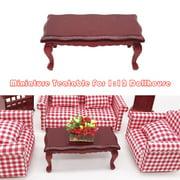 matoen 1:12 Dollhouse Furniture Miniature Teatable Coffee Table Living Room Kid Toy