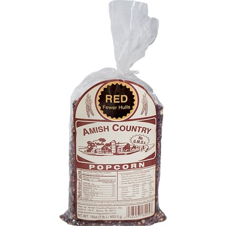 Amish Country Popcorn - 1 Pound Bag of Old Fashioned Red Popcorn - Perfect for Fundraisers - Non GMO, Gluten Free, Microwaveable, Stovetop and Air Popper Friendly - Orange Popcorn For Halloween