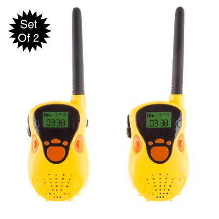 Kids Walkie Talkie Set- 2-Pack Indoor Outdoor Toy for Boys and Girls- Battery Operated and Easy to Use- Great for Fun Pretend Play by Hey! Play!](Girls Engineering Toys)