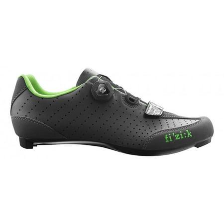 Fizik R3 UOMO BOA Road Cycling Shoes Anthracite/Green Size (Best Fizik Cycling Shoes)