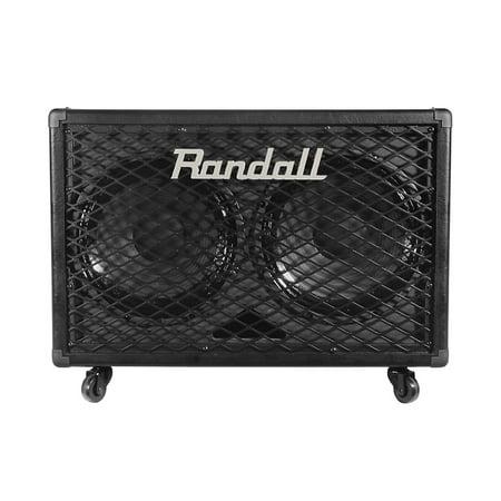 Randall RG212 2x12 100W Guitar Speaker Cabinet Black Open Guitar Speaker Cabinet