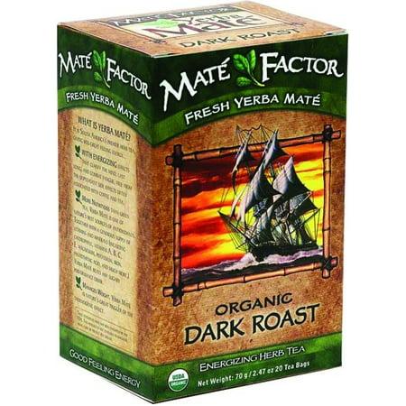 Mate Factor Dark Roast Organic Yerba Mate, 20 Ct