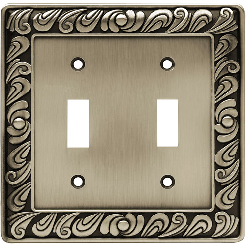 Brainerd Paisley Double-Switch Wall Plate, Available in Multiple Colors